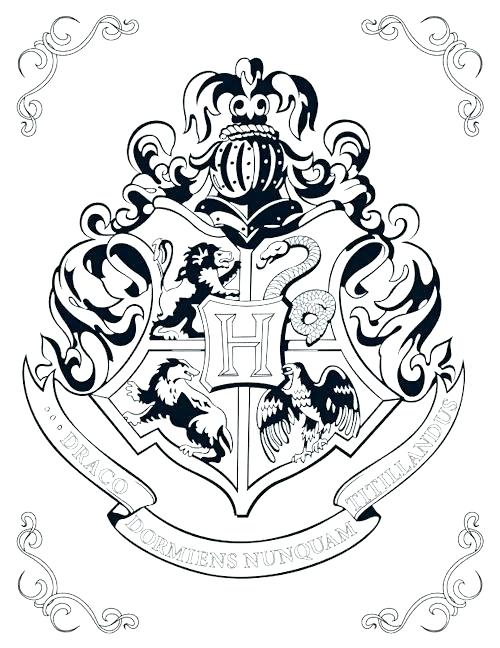 Gryffindor Crest Coloring Pages at GetDrawings | Free download