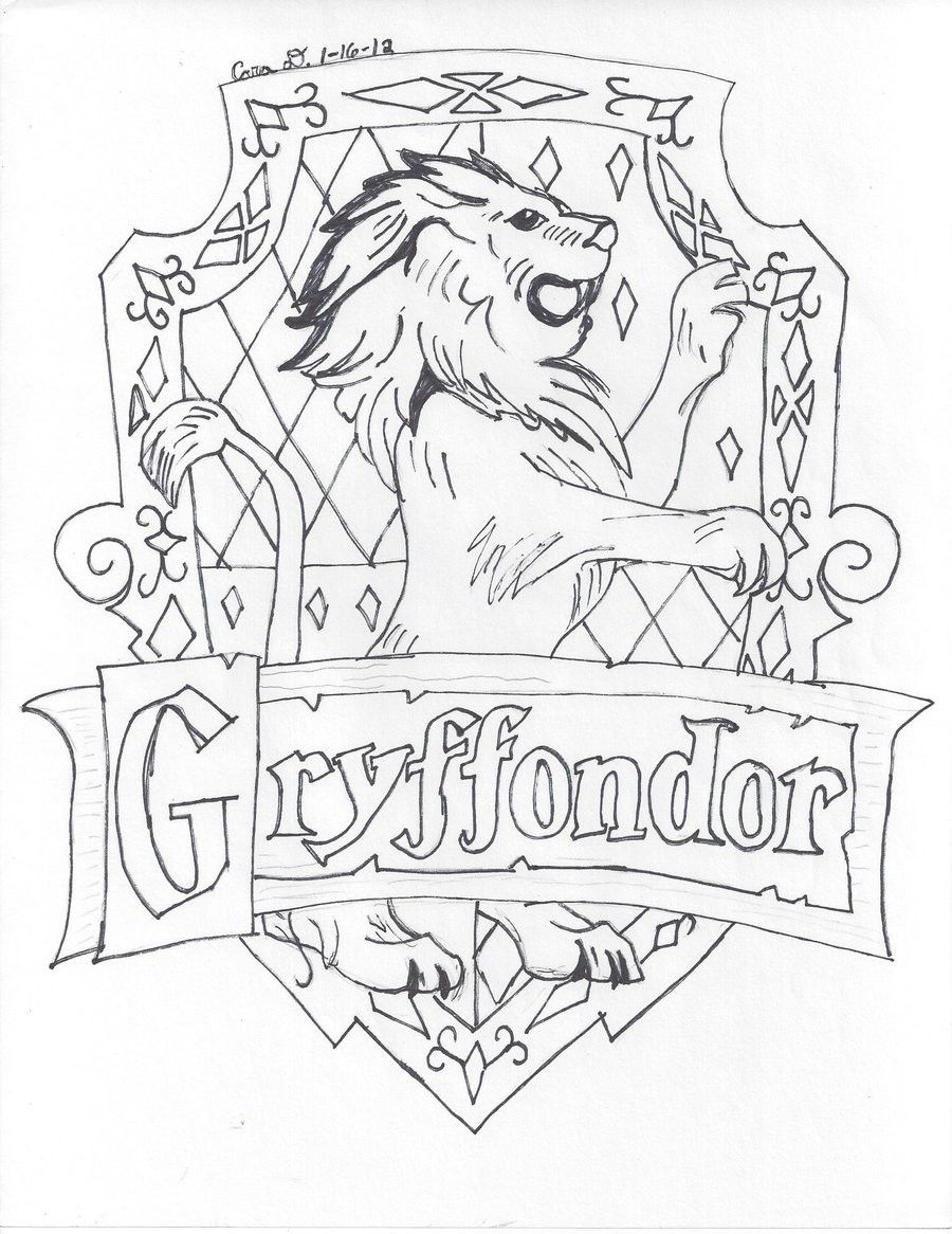 gryffindor crest coloring pages 19