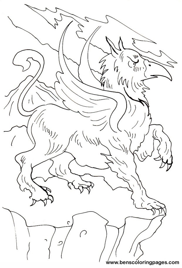 620x912 Drawn Griffon Coloring Page
