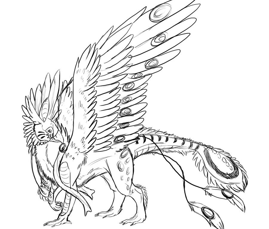 900x768 Gryphon Coloring Pages For Kids Unusual Finest Cute Babymals