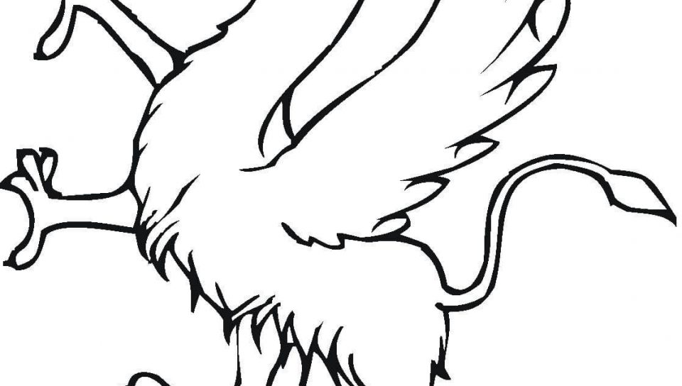 960x544 Gryphon Coloring Pages Unusual Gryphoncoloringpage For Adults
