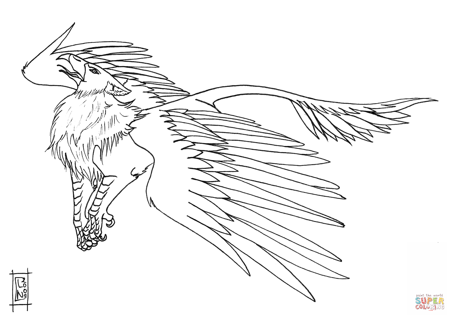 1500x1055 Pioneering Gryphon Coloring Pages Morh The Griffin Page Free