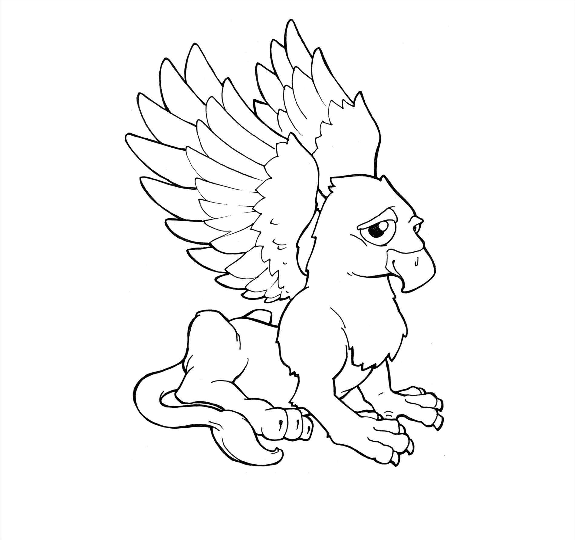 1900x1784 Reduced Griffon Coloring Page Griffin Free Printable Pages