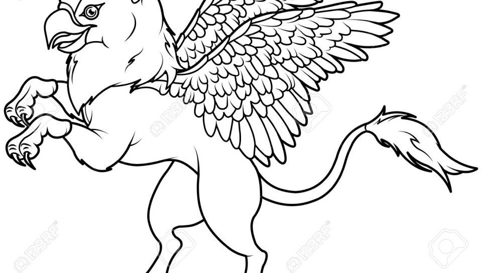 960x544 Unusual Gryphon Coloring Pages For Kids Griffin Greek Mythology
