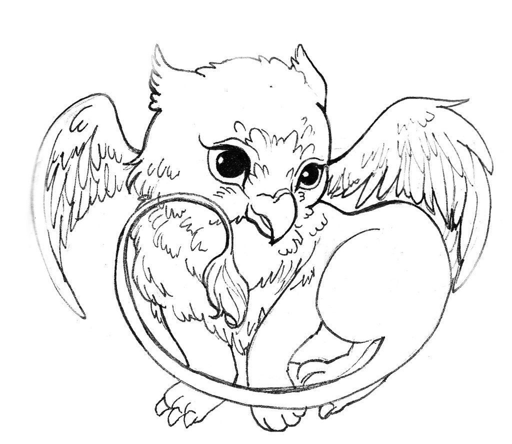 1024x889 Acorns To Color And Print Cute Griffin