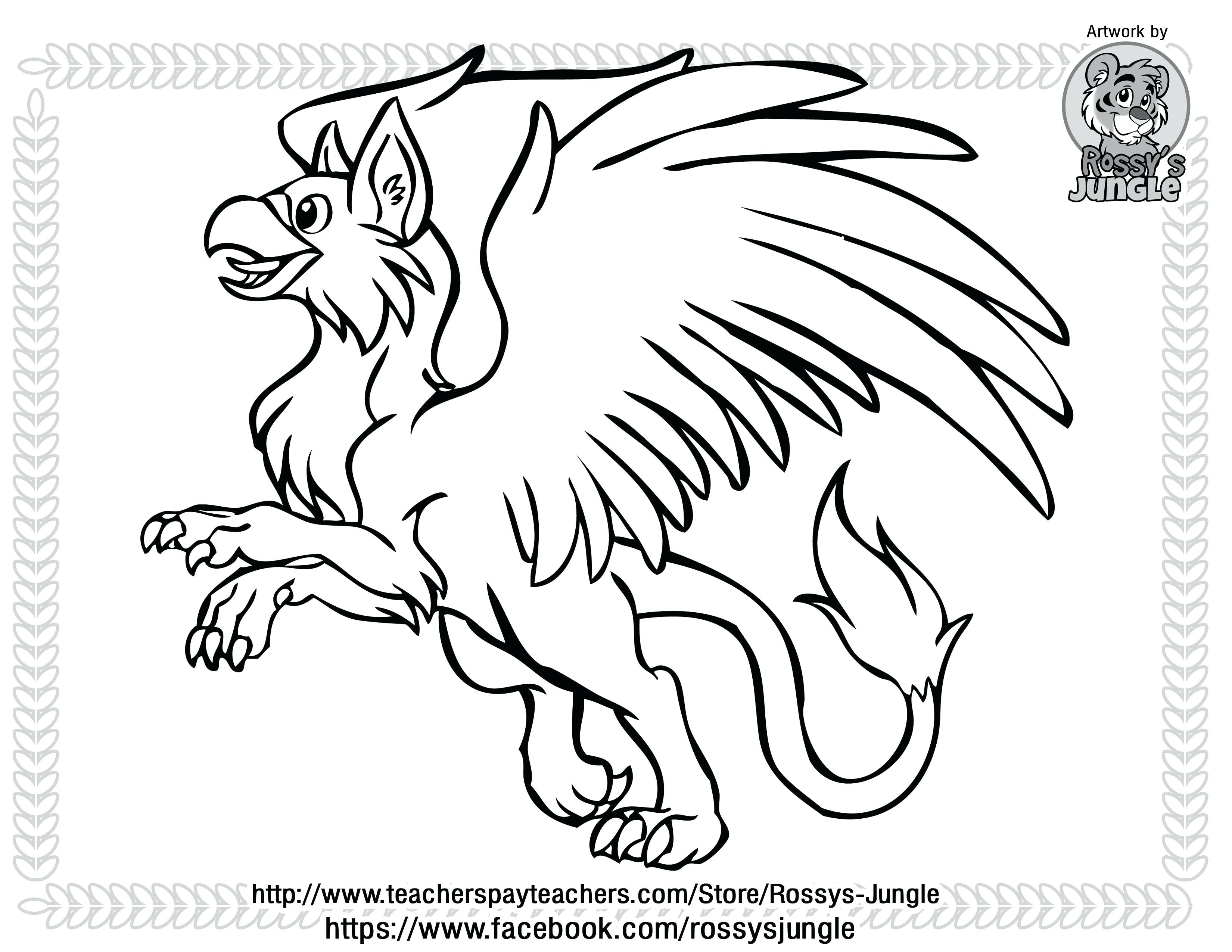 3300x2550 Coloring Pages Christmas Reindeer Cute Gryphon Chibi Drawing Page