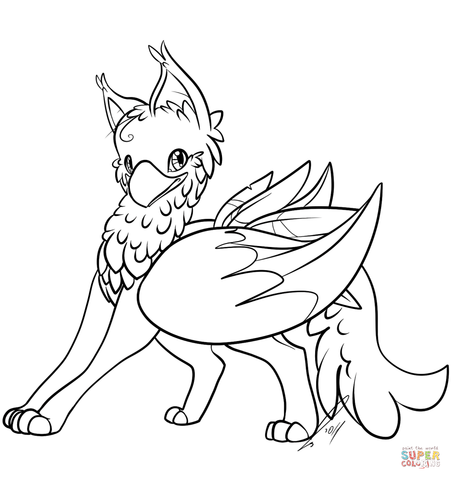 896x952 Cute Gryphon Super Coloring Coloring Sheets Babies