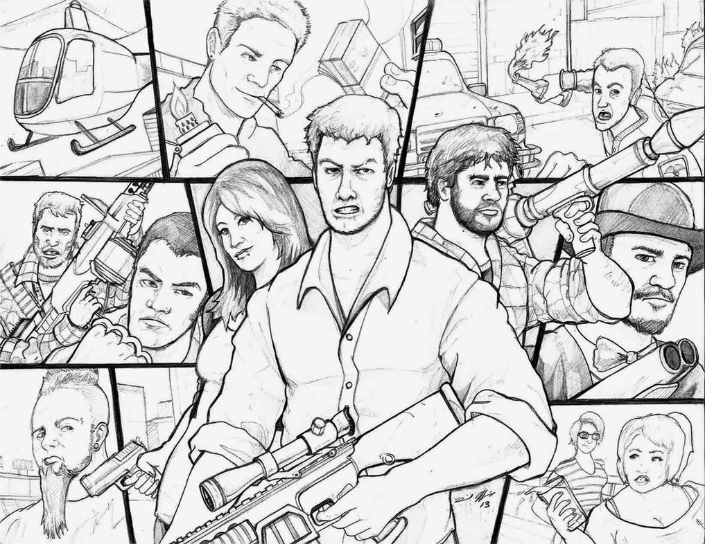 1017x786 Gta Drawing Grand Theft Auto Coloring Pages