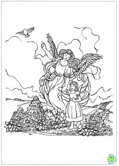 236x327 Guardian Angel Coloring Page Angels Guardian