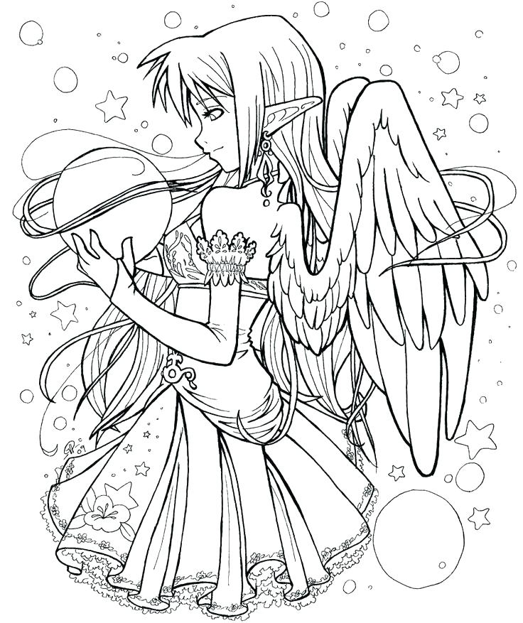 736x877 Guardian Angel Coloring Page Free Printable Angel Coloring Pages
