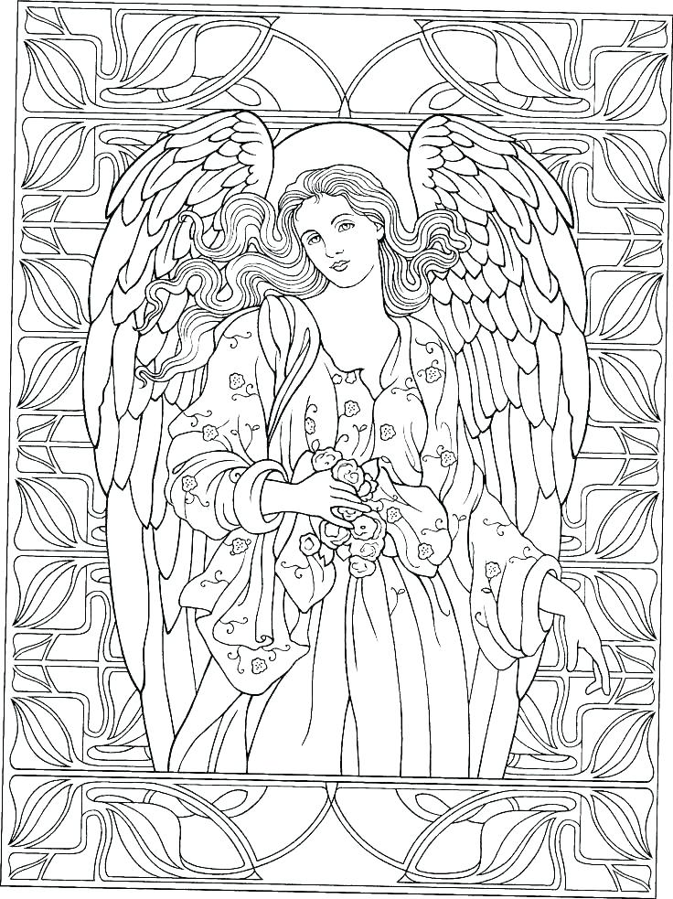 Guardian Angel Coloring Page At Getdrawings Com Free For Personal