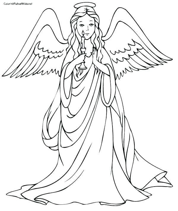 600x708 Guardian Angel Coloring Pages Angels Coloring Pages Plus Angel