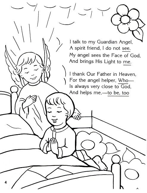 494x650 Guardian Angel Coloring Page Sunday School Coloring Pages