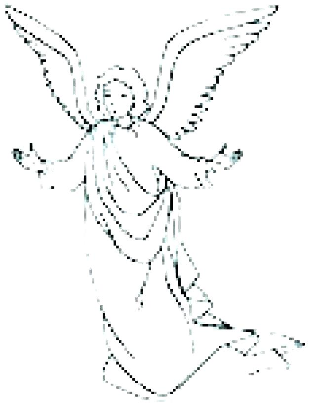 640x820 Angel Coloring Pages