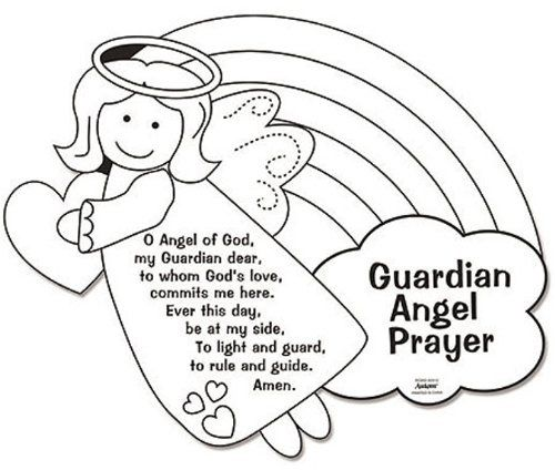 500x424 Guardian Angel Coloring Page Amazon Color Your Own Guardian Angel