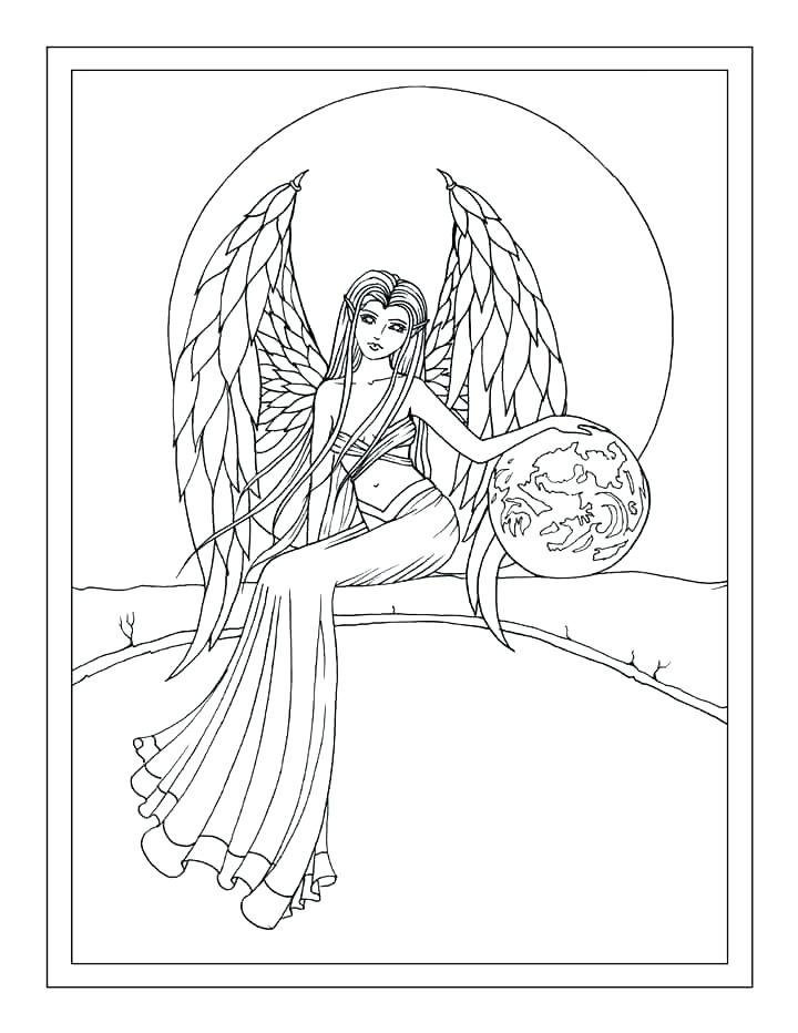 720x932 Guardian Angel Coloring Page