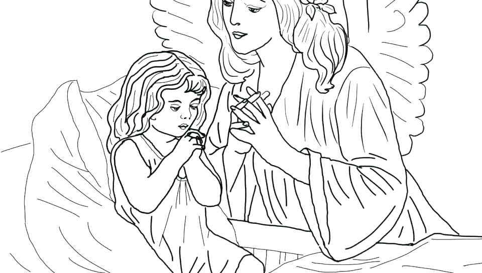 960x544 Guardian Angel Coloring Pages Printable
