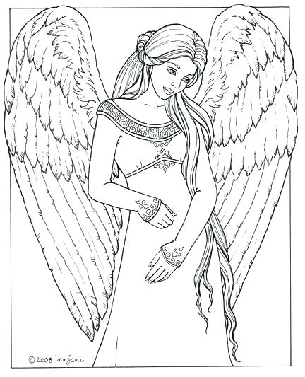 432x533 Angel Coloring Pages Printable Angel Coloring Pages Guardian Angel