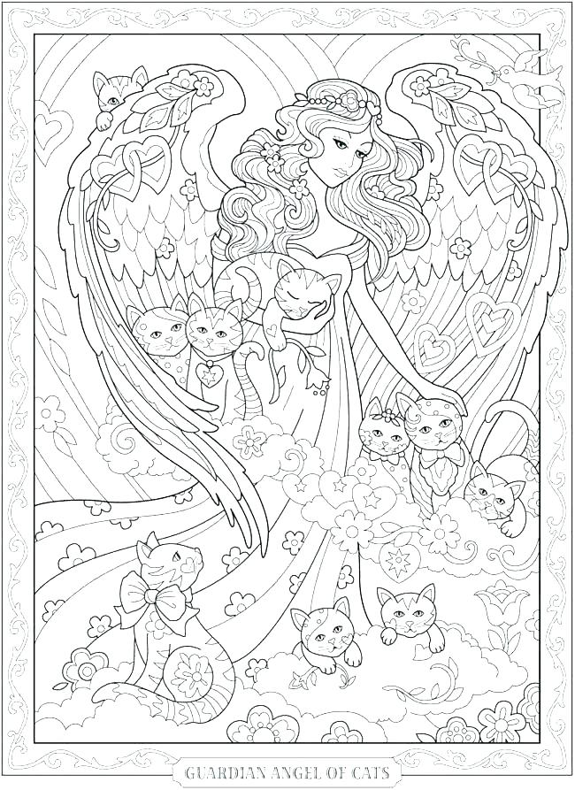 650x893 Angels Coloring Pages Guardian Angel Coloring Pages Coloring Book