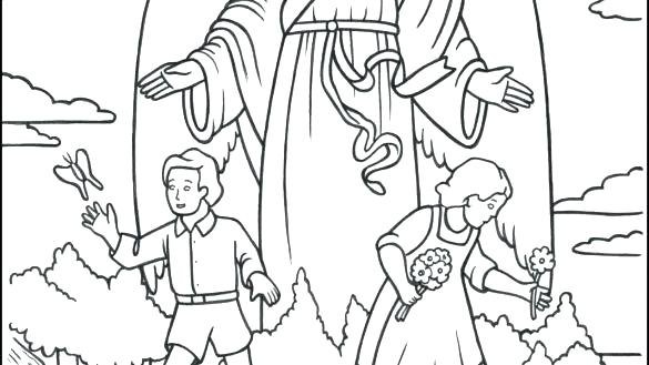 585x329 Catholic Coloring Books Guardian Angel Coloring Page Catholic Free