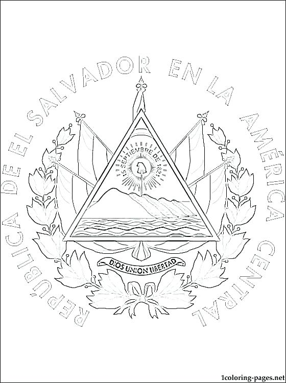 560x750 Guatemala Flag Coloring Page Flag Coloring Page Coat Of Arms