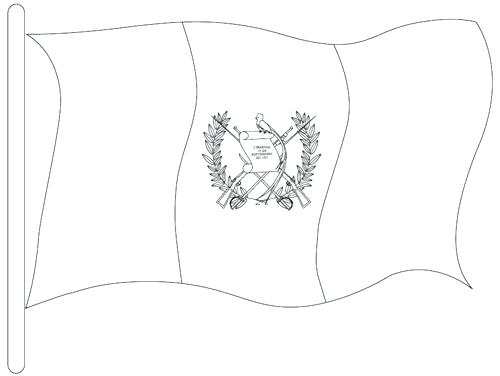 500x376 Guatemala Flag Coloring Page National Symbol Flag Coloring Page