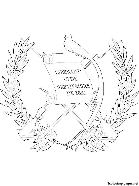 560x750 Guatemala Coat Of Arms Coloring Page Coloring Pages South