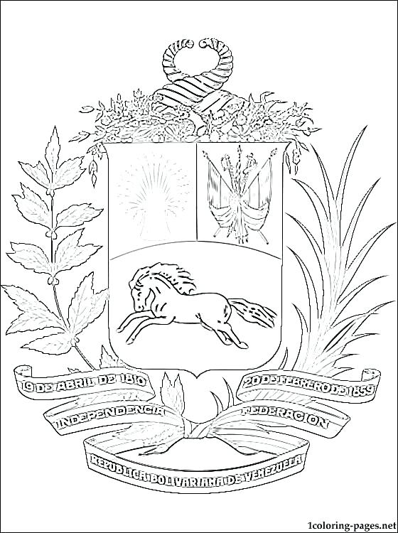 560x750 Venezuela Flag Coloring Page Flag Coloring Page Coat Of Arms