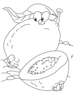 236x304 Chickoo Planting More Chickoo Tree Coloring Pages Download Free
