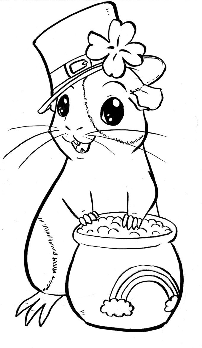 681x1172 Guinea Pig Coloring Pages Freecolorngpages Co Colouring