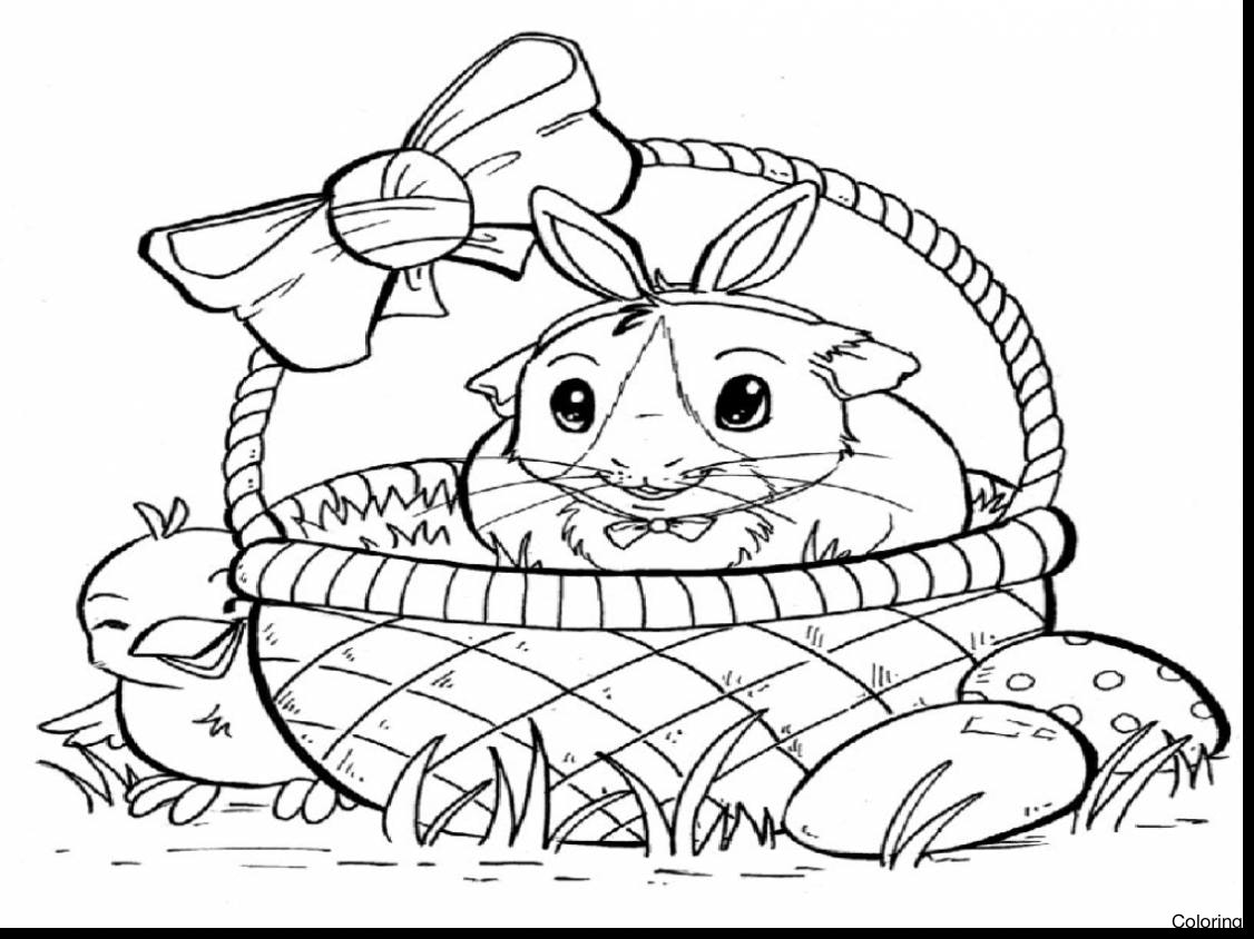 1126x844 Guinea Pig Coloring Pages Luxury With Additional For Kids