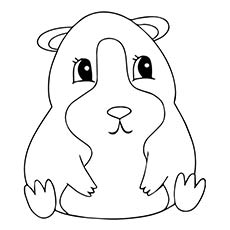 230x230 Top Free Printable Guinea Pig Coloring Pages Online