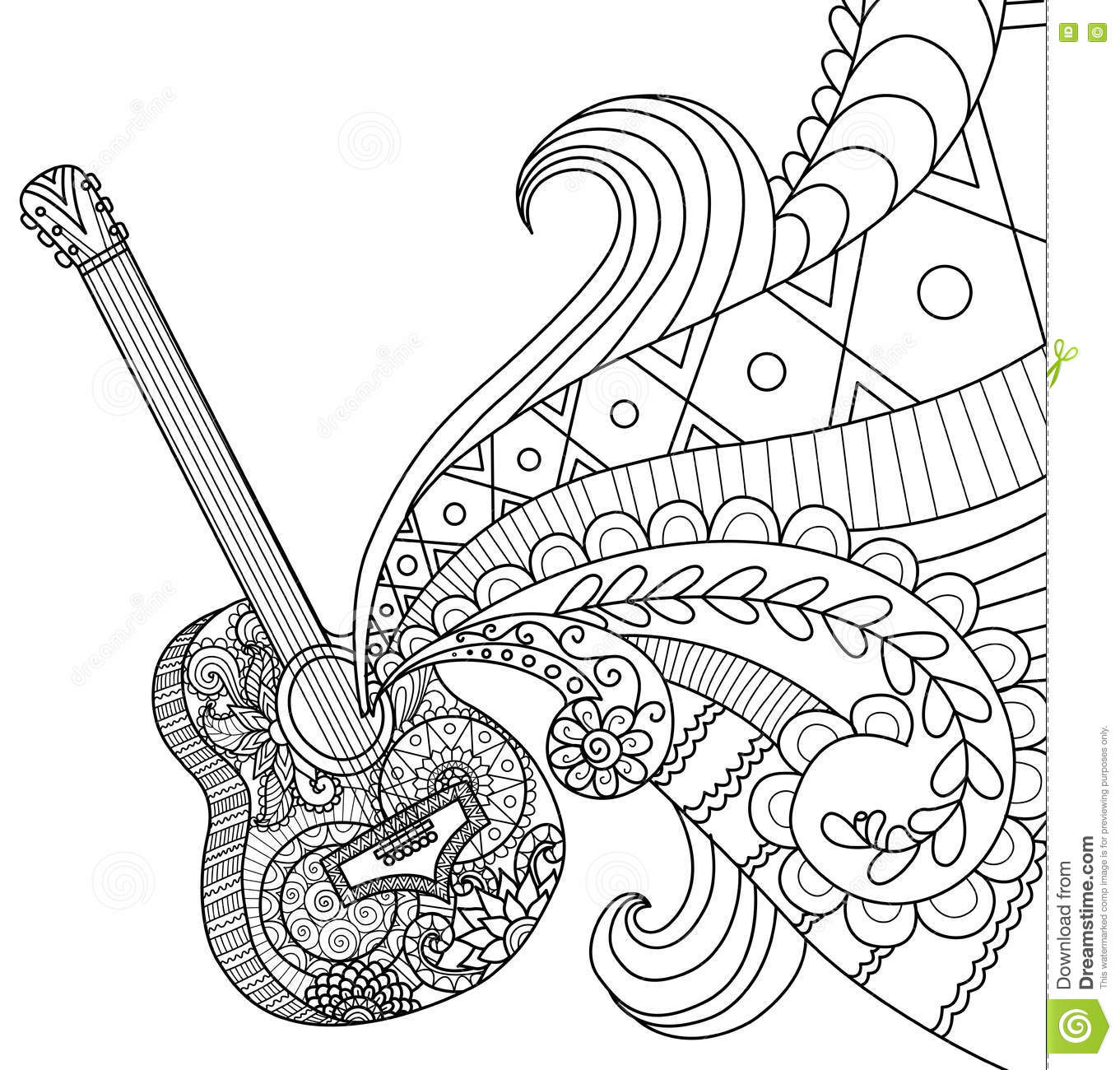 1361x1300 Guitar Coloring Pages Coloring Pages Cliparts