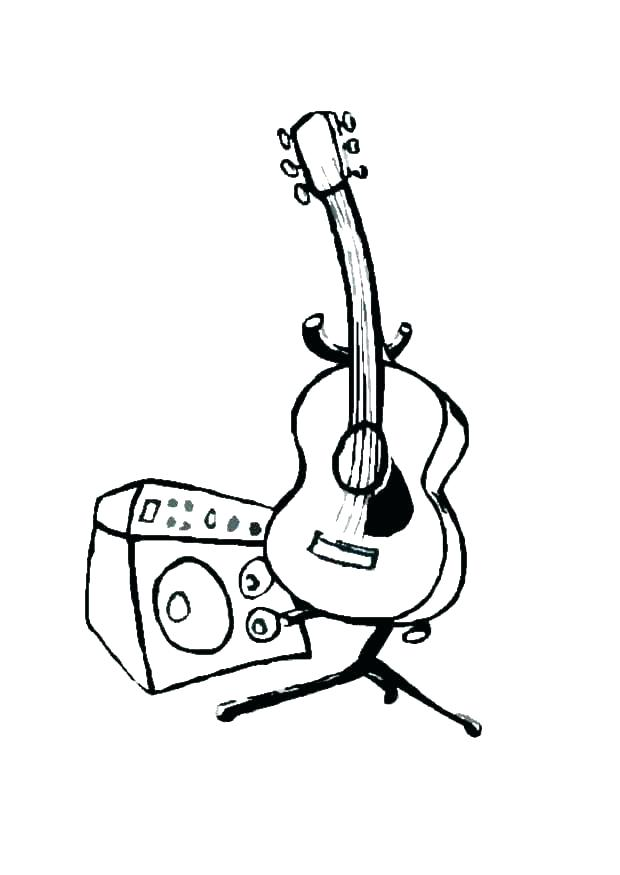 620x875 Guitar Coloring Pages