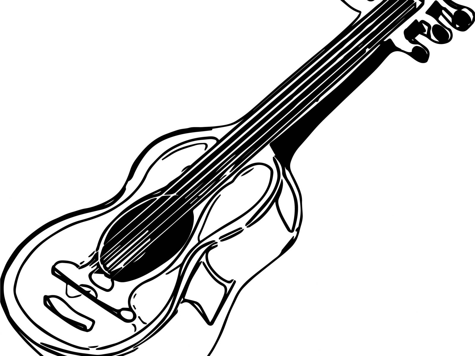 1600x1200 Double Neck Guitar Coloring Page You Dont See Too Many Best Pages