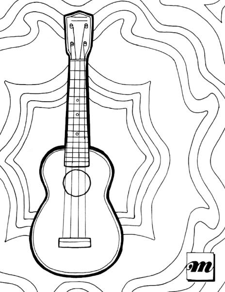 464x600 Free Printable Ukulele Coloring Page Musical Mama