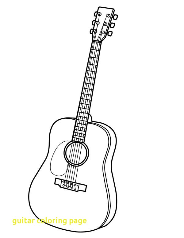 600x776 Guitar Coloring Page Twisty Noodle Intended For Pages Idea