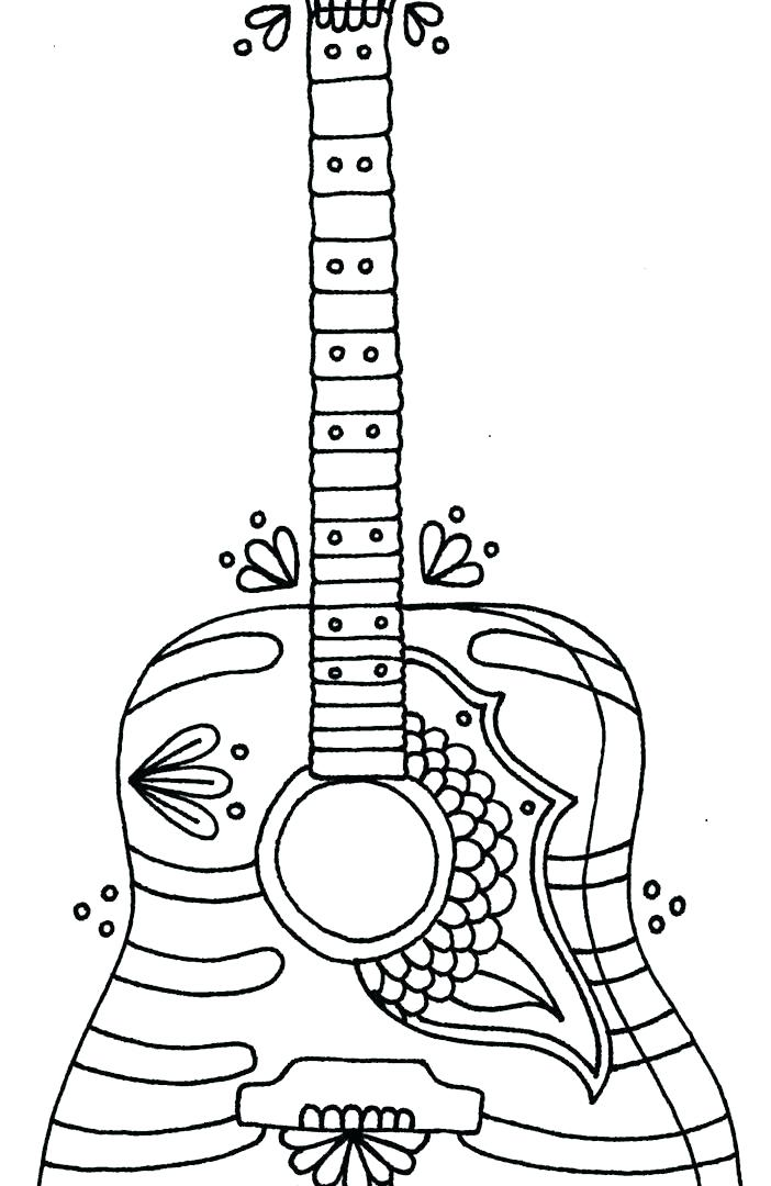 702x1080 Guitar Coloring Pages Adult Coloring Page Printable Guitar Best