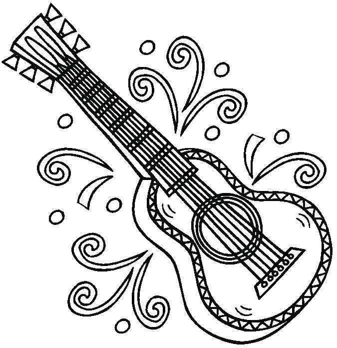 675x696 Guitar Coloring Pages Guitar Coloring Pages For Boys A Bass Guitar