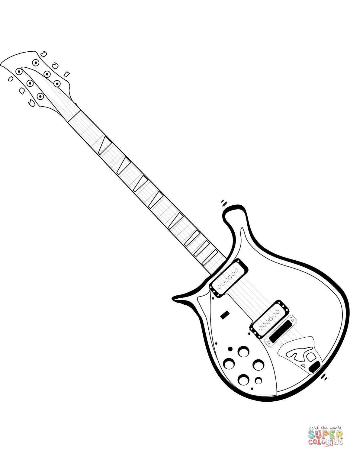 1159x1500 Guitar Coloring Pages Printable New Electric Guitar Coloring Page