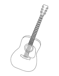 236x305 Acoustic Guitar Free Printable Coloring Page Guitar Lead