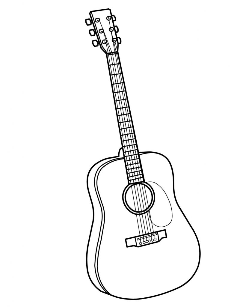 791x1024 Guitar Colouring Pages