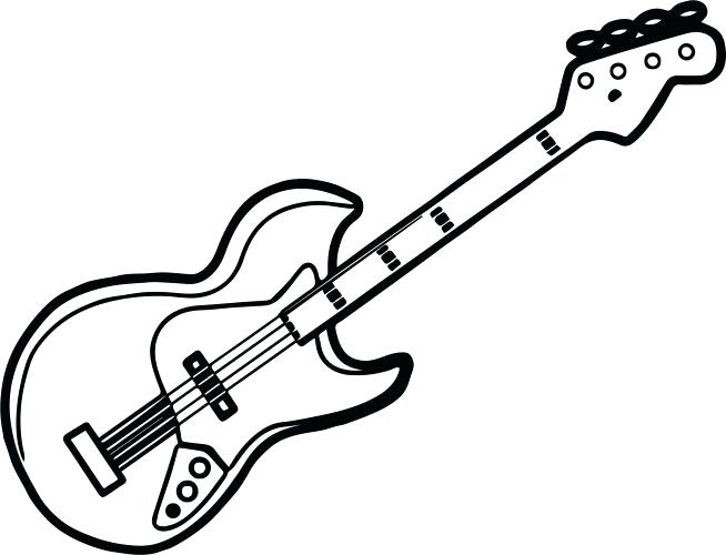 Guitar Coloring Pages for Adults 1 Printable Coloring Page | Etsy | 500x654