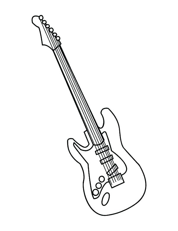 600x777 Printable Coloring Pages Guitar Electric Gui On Guitar Edge