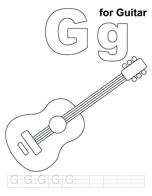 612x792 Electric Guitar Coloring Pages