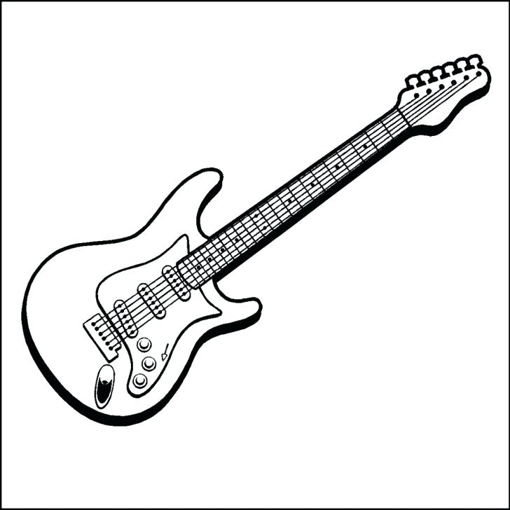 728x728 Electric Guitar Coloring Page Guitar Coloring Pages With Wallpaper