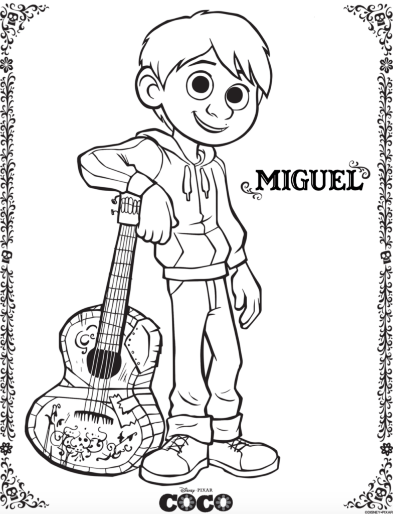 784x1024 Free Coco Coloring Pages And Activity Sheets