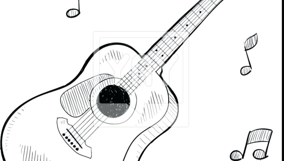 960x544 Free Electric Guitar Coloring Pages Guitar Coloring Page