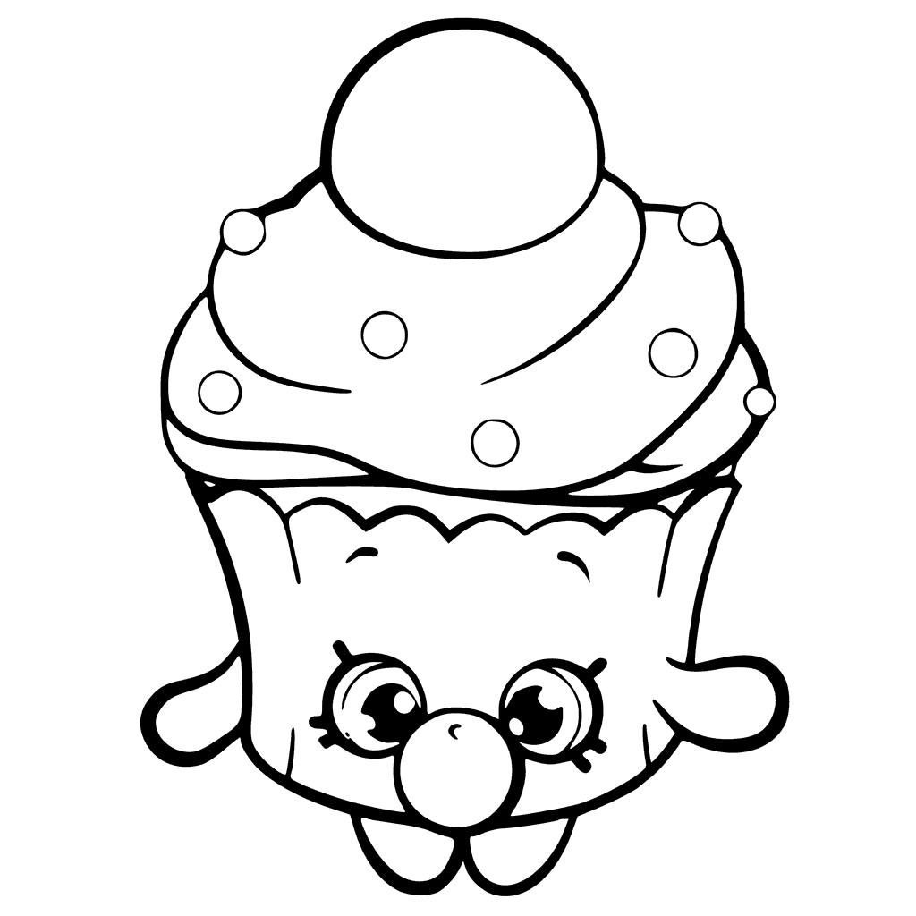 1024x1024 Bubble Cupcake Shopkins Coloring Page