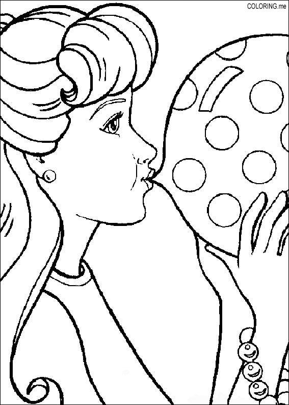 567x794 Coloring Page Barbie Chewing Gum